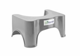 Dr. Wellthy - Medizinischer Toilettenhocker 41,5x24x17cm Grau - Gesunde Darmflora - 1