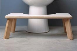 Einstein Toilettenhocker Kackhocker Student-Version im Skandi-Look,Toilettenstuhl aus Holz, WC-Erhöhung, Badezimmerausstattung, Made in Germany - 1
