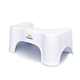 HappyPo Toilettenhocker | Bei Hämorrhoiden, Verstopfung, Reizdarm, Blähungen, Blähbauch – schonende, schnellere Erleichterung durch ärztlich empfohlene Sitzhaltung - 1