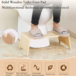 iBoosila Squatty Potty WC Hocker Toilettenhocker Tritthocker aus Holz 48 x26 x15.5cm Squatty Potty - gesunde Sitzhaltung auf der Toilette - gegen Hämorrhoiden und Verstopfung - 1