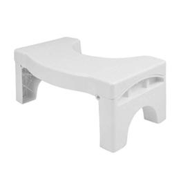 "LOMOS Faltbarer Badezimmer WC- & Toilettenhocker ""Vital"" in weiß (41x22x17cm) - 1"