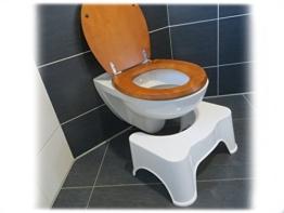 rukauf HQ medizinischer Toilettenhocker Toilettenstuhl Toilettenhilfe für leichtere Darmentleerung / optimale Haltung auf dem Klo -