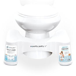 Toilettenhilfe Squatty Potty Ecco in Weiß, 19cm -